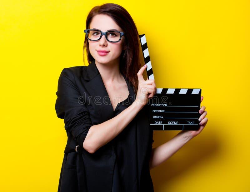 Портрет молодой женщины с фарсом стоковая фотография