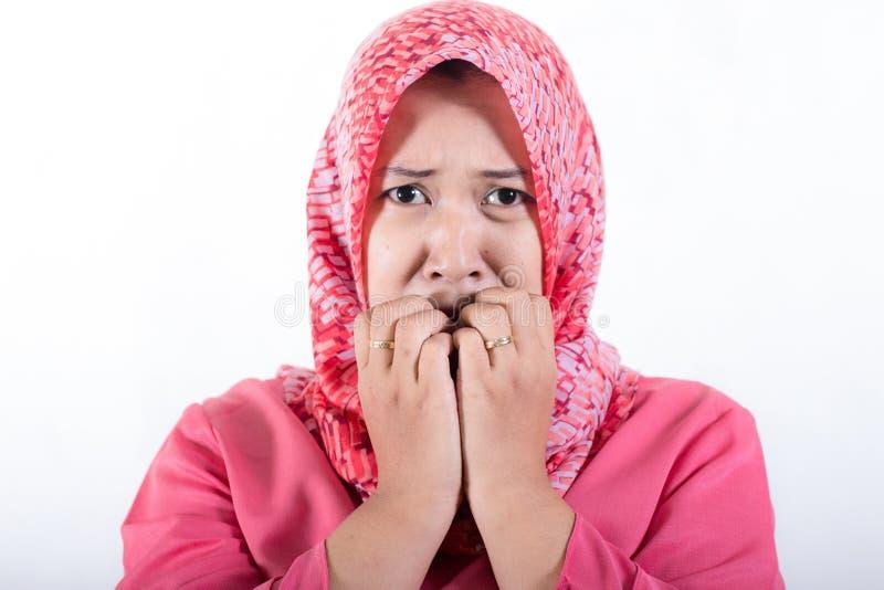 Портрет мусульманской бизнес-леди стоковое изображение rf