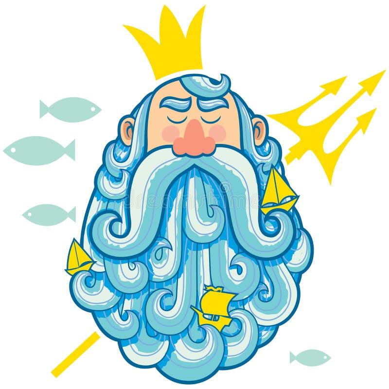 Портрет Нептуна бесплатная иллюстрация