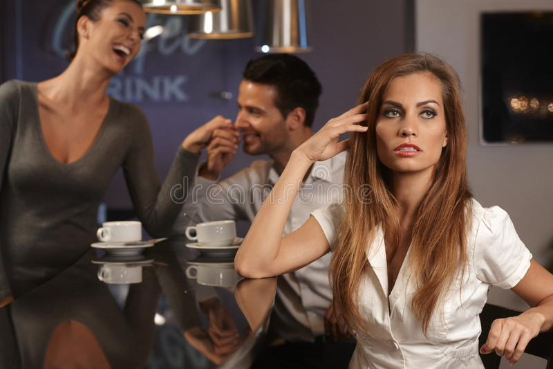 Портрет несчастной confused женщины стоковые фото