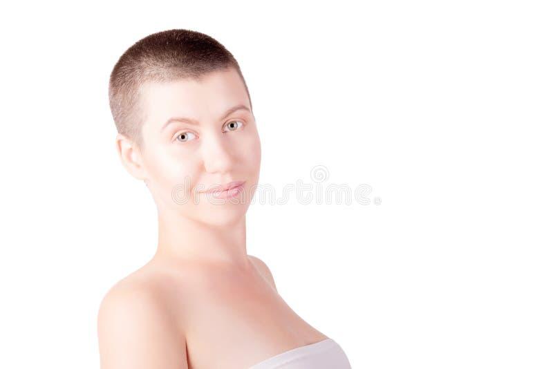 Портрет облыселой женщины стоковое изображение