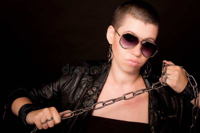 Портрет облыселой женщины стоковые изображения