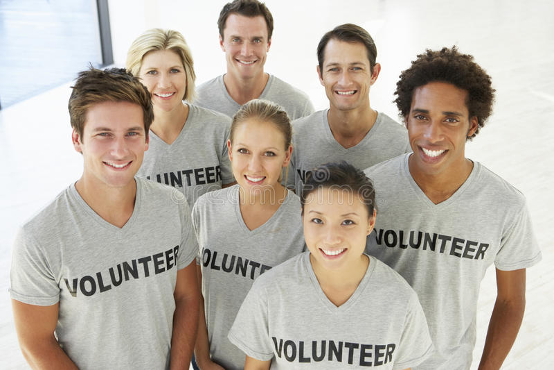 Портрет добровольной группы стоковая фотография rf