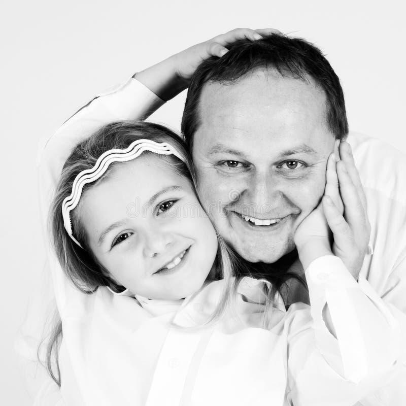 Портрет отца и дочери стоковое фото