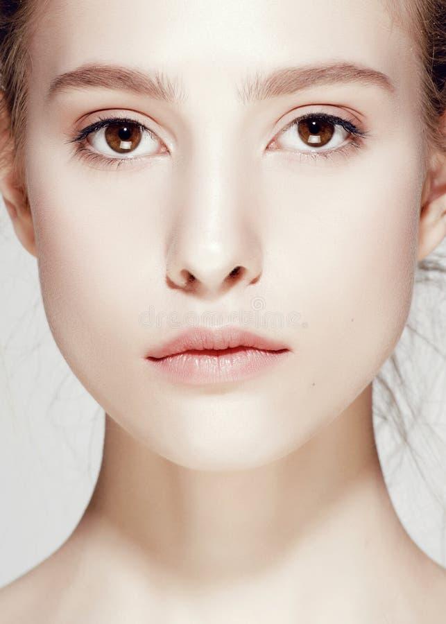 Портрет очарования красивой модели женщины с стоковая фотография rf