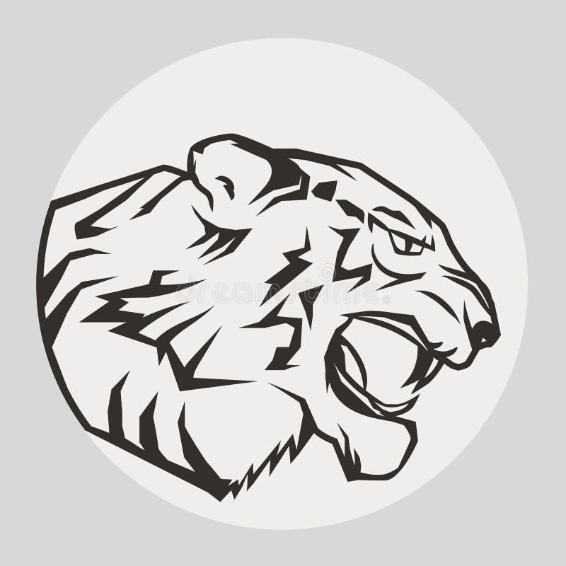 Портрет пантеры Сердитая одичалая большая кошка бесплатная иллюстрация