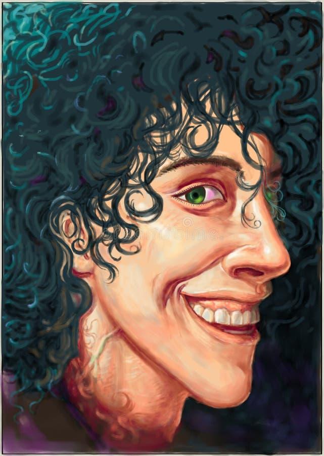 Портрет певицы Лаура Pergolesi иллюстрация вектора