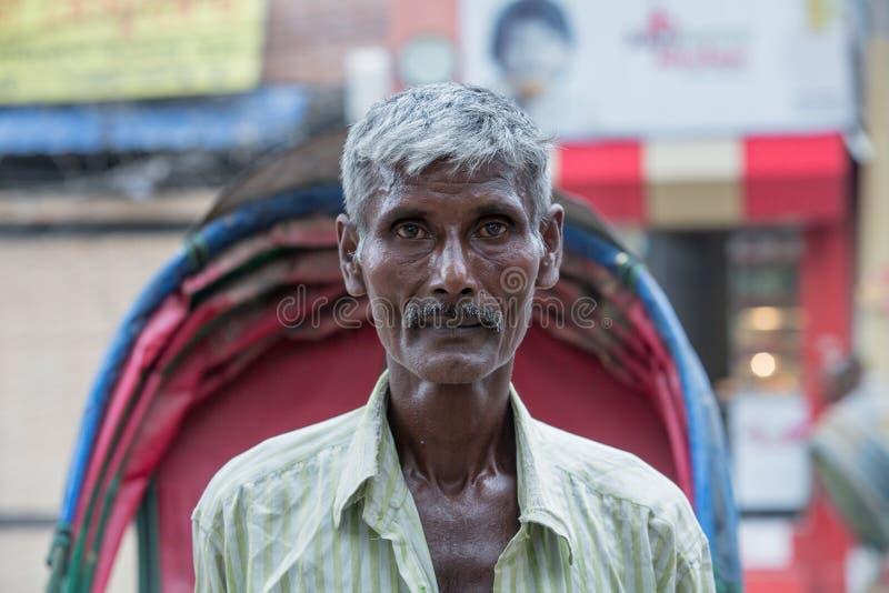 Портрет плохого бангладешского человека стоковые изображения rf