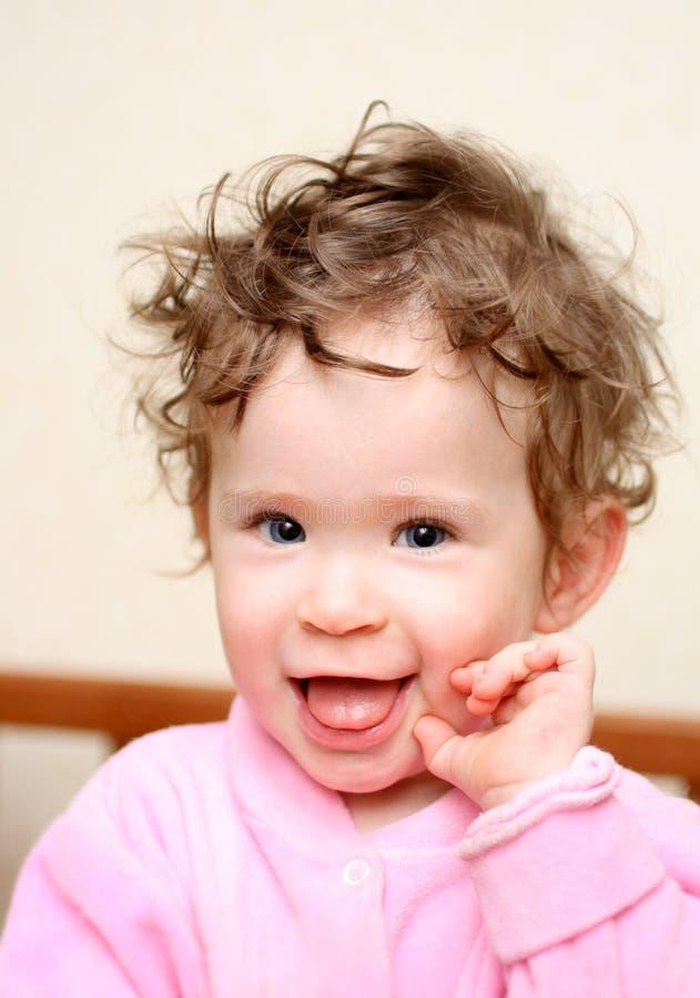 портрет потехи младенца счастливый стоковая фотография rf