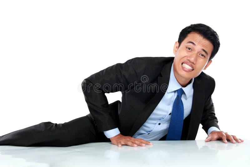 Download Портрет подъема бизнесмена стена Стоковое Фото - изображение насчитывающей стоять, изолировано: 37927312