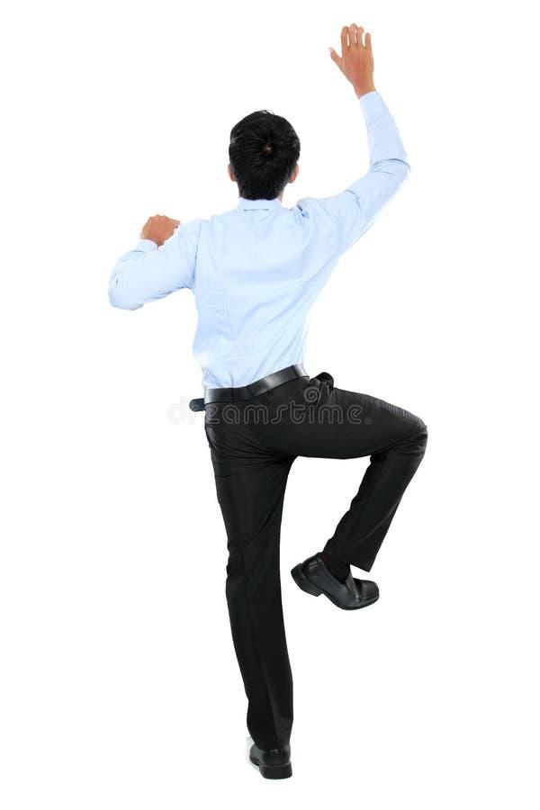 Download Портрет подъема бизнесмена стена Стоковое Изображение - изображение насчитывающей дело, bodysuits: 37927377