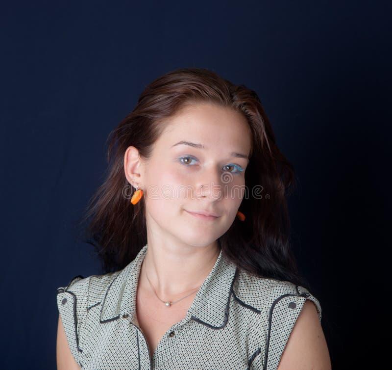 портрет предпосылки черный стоковое изображение rf