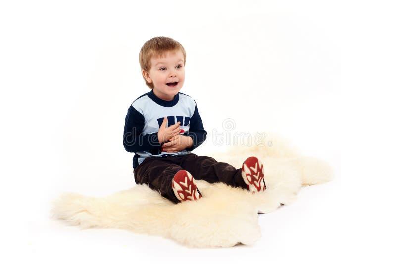 портрет прелестно ребенка expresiive стоковые фотографии rf