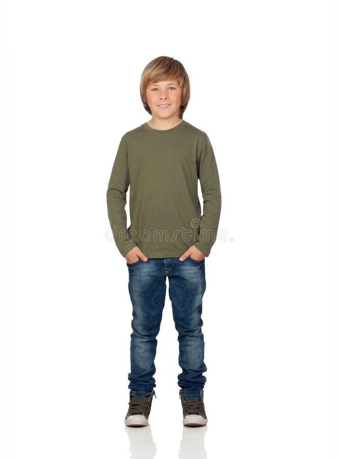 Портрет прелестного положения ребенка стоковое фото