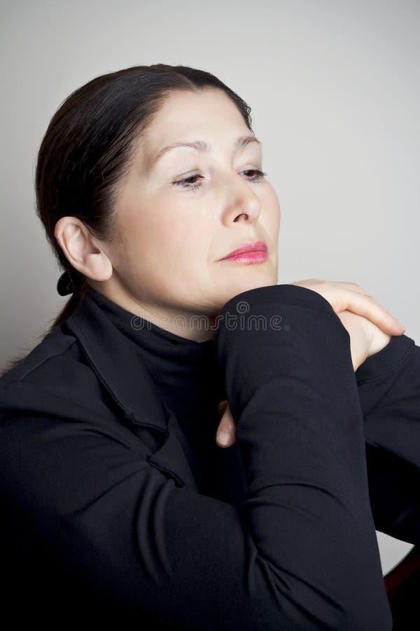Портрет привлекательного возникновения азиата женщины стоковые фотографии rf