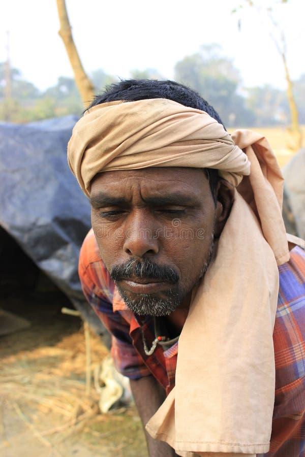Портрет плохого работника стоковое фото rf