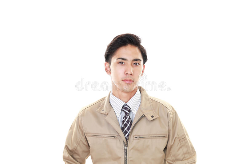 Портрет работника стоковая фотография