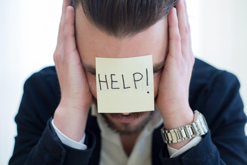 Портрет расстроенного бизнесмена стоковое изображение