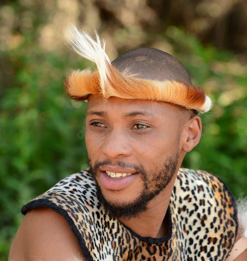 Портрет ратника Зулуса стоковое изображение