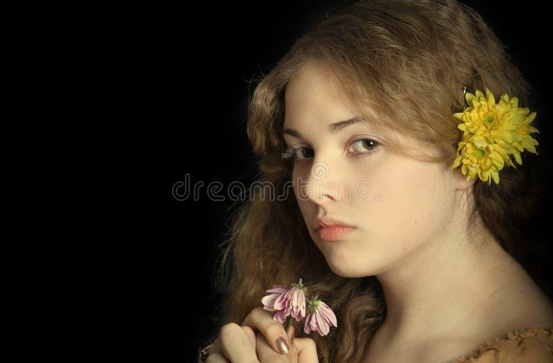 портрет романтичный стоковое изображение