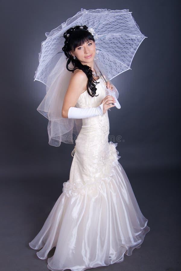 портрет романтичный s невесты близкий вверх стоковое изображение rf