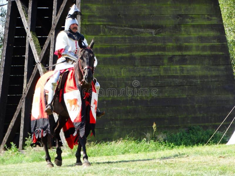 портрет рыцаря средневековый стоковая фотография rf