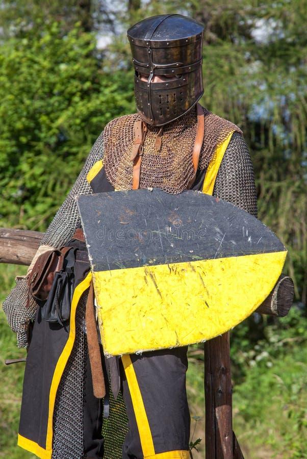 портрет рыцаря средневековый стоковое изображение