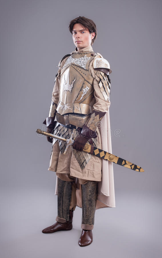 портрет рыцаря средневековый стоковые фотографии rf
