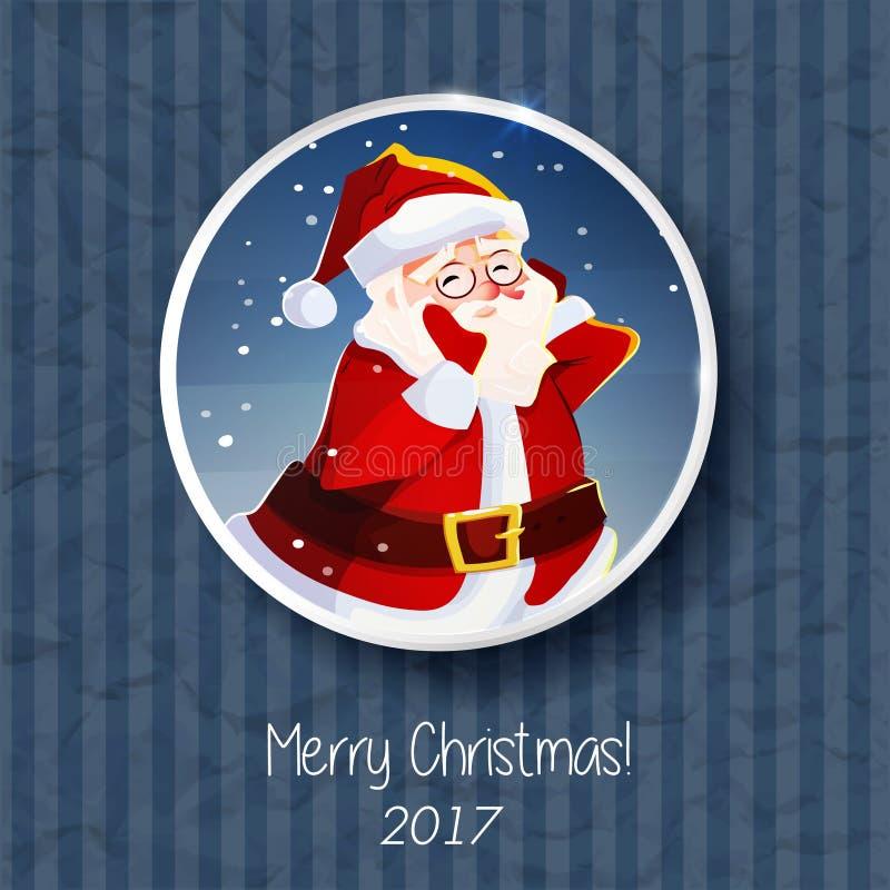Портрет Санта Клауса Знамя плаката рождественской открытки бесплатная иллюстрация