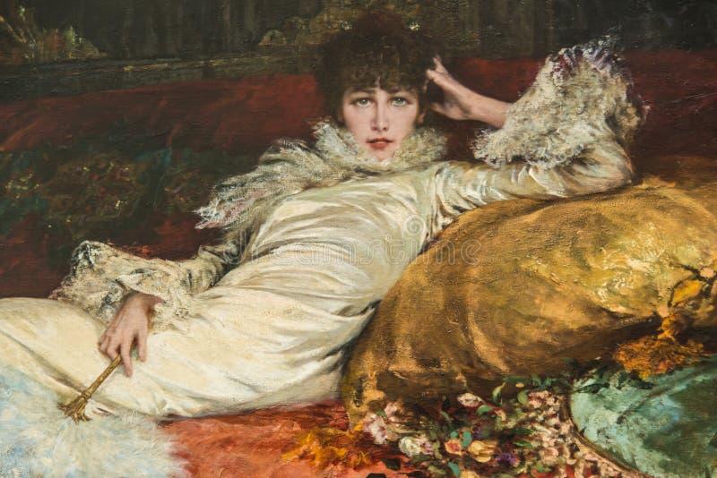 Портрет Сара Бернард Jugendstil nouveau искусства бесплатная иллюстрация