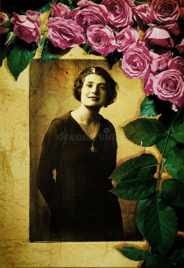 Портрет сбора винограда от 1920s стоковая фотография