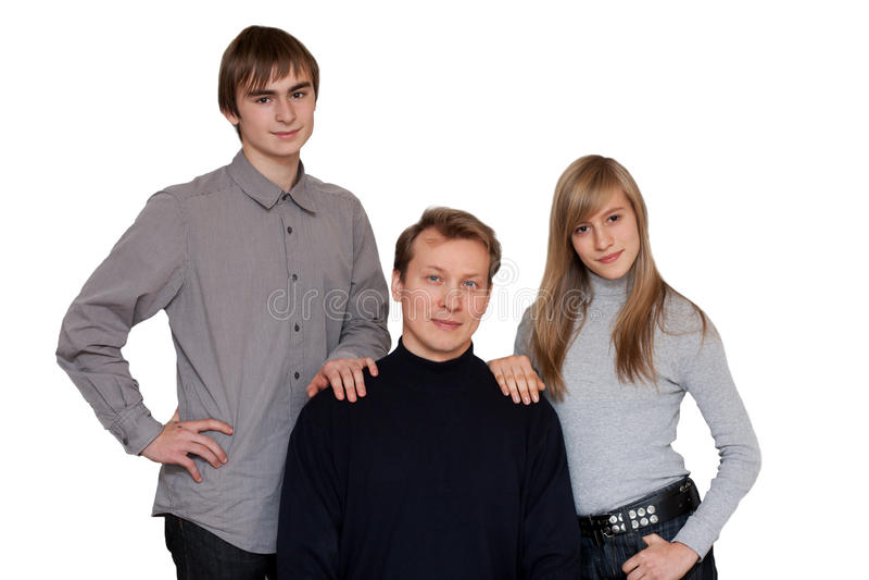 портрет семей к стоковая фотография