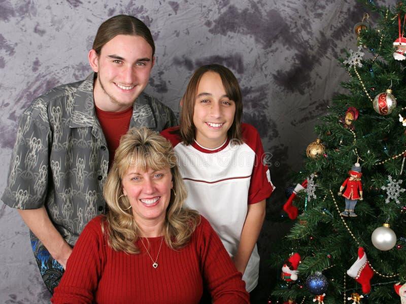 портрет семьи рождества стоковое изображение rf