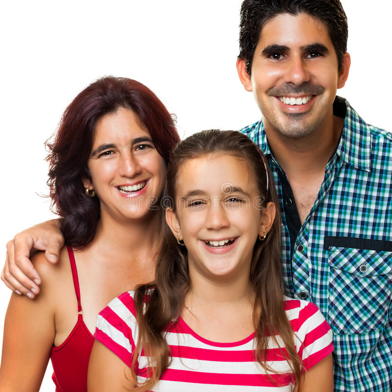 портрет семьи счастливый испанский стоковое фото rf