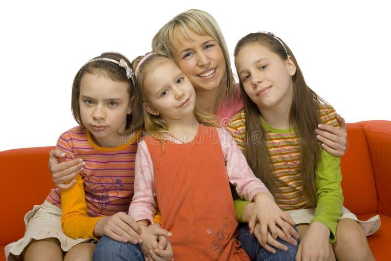 портрет семьи стоковые фото