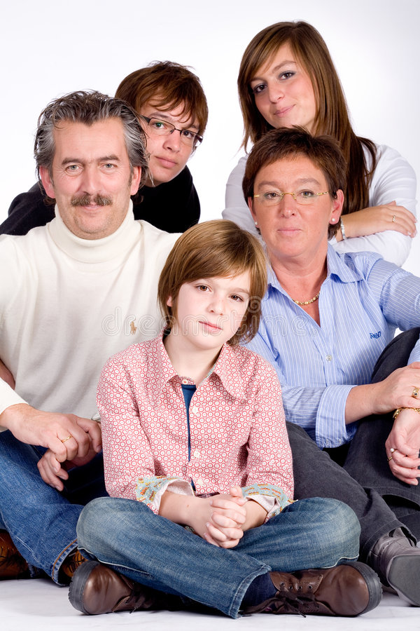 портрет семьи стоковое фото rf