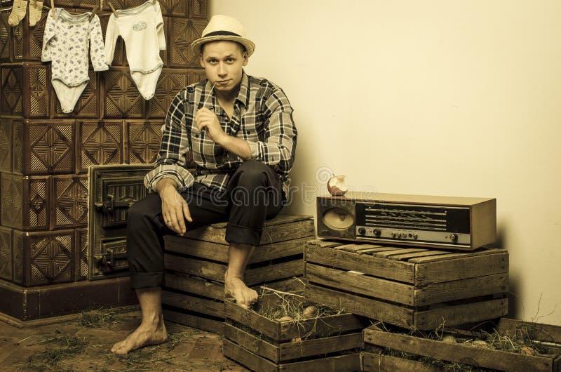 Портрет сельской местности молодого человека стоковые изображения rf