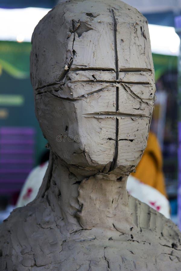 Портрет скульптуры прессформы персона заголовка стоковая фотография rf
