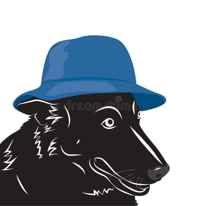 Портрет собаки в шляпе бесплатная иллюстрация
