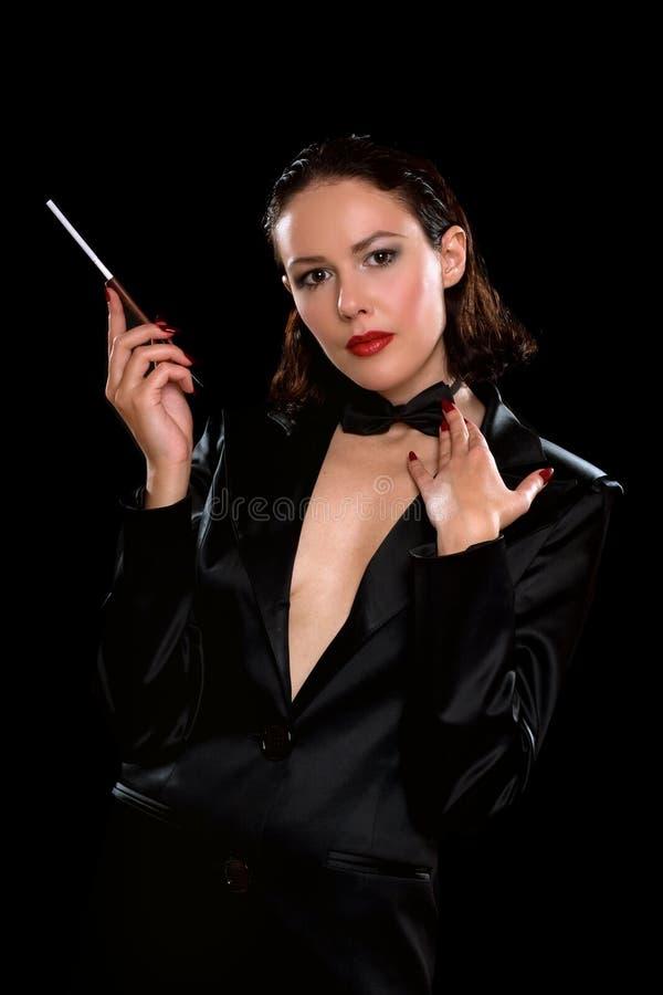 Портрет совершенной молодой женщины стоковое фото rf