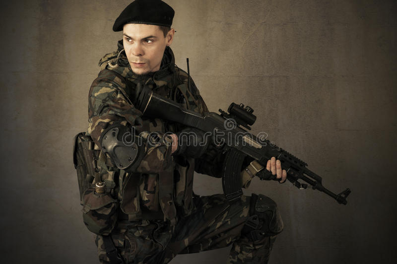 Портрет солдата стоковое фото