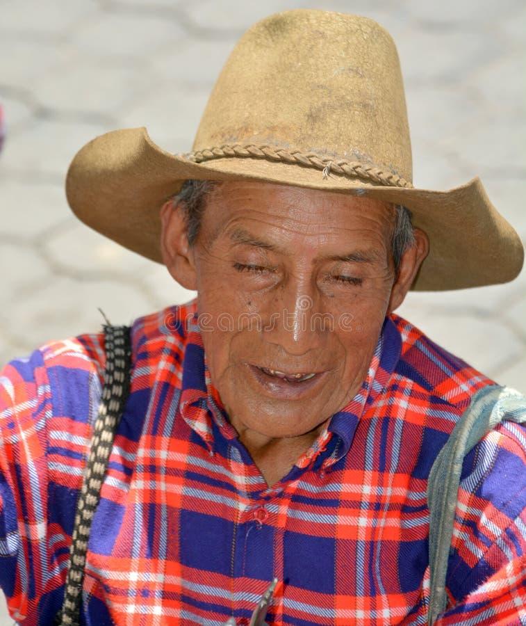 Портрет старого майяского человека стоковые изображения rf