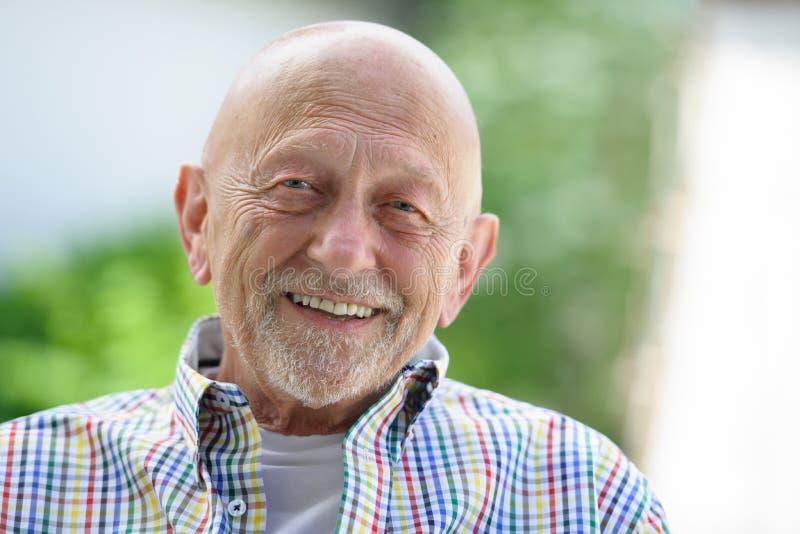 Портрет старшего человека стоковое фото rf