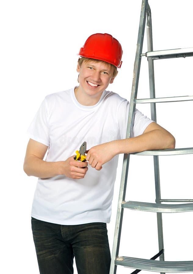 портрет строителя стоковые фотографии rf