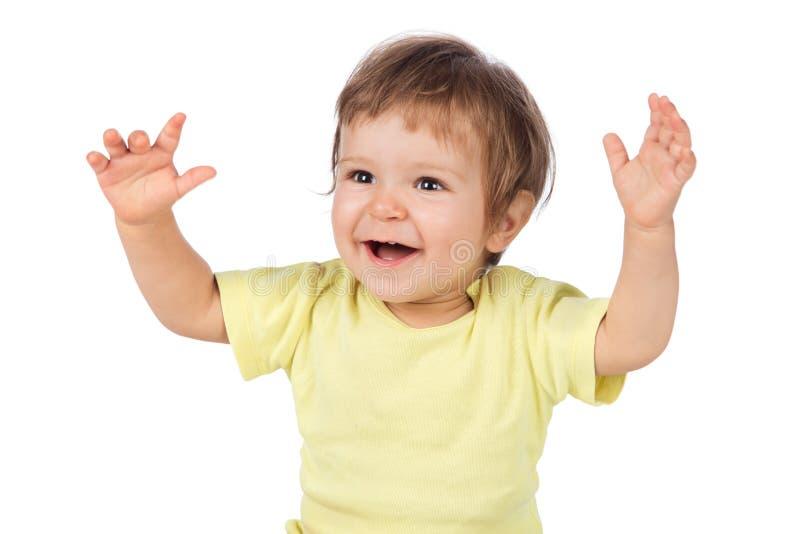 Портрет счастливого младенца стоковая фотография