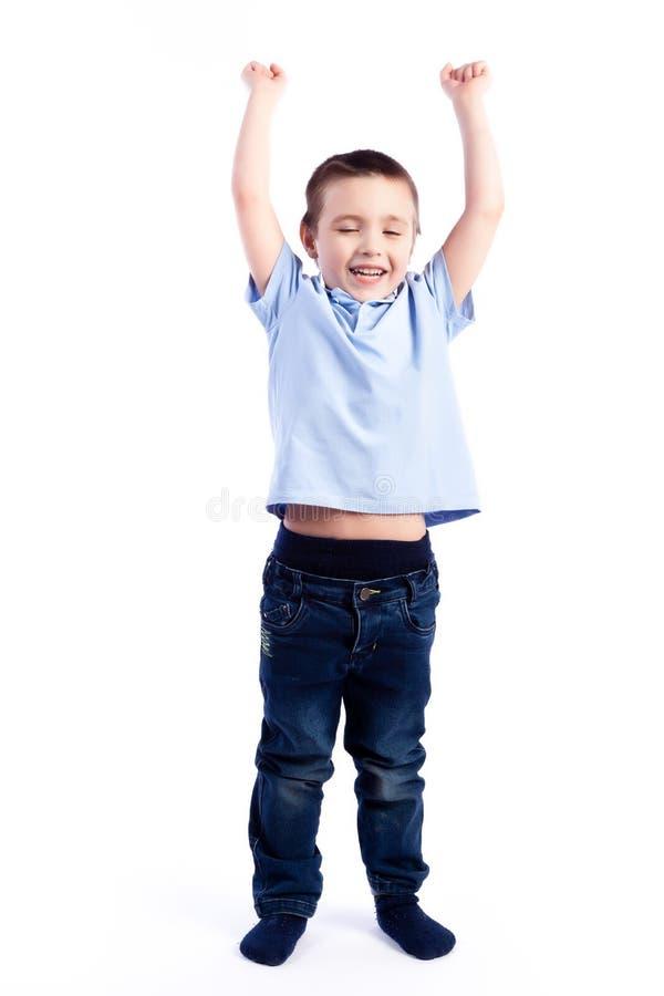 Портрет счастливого радостного красивого мальчика стоковое фото rf