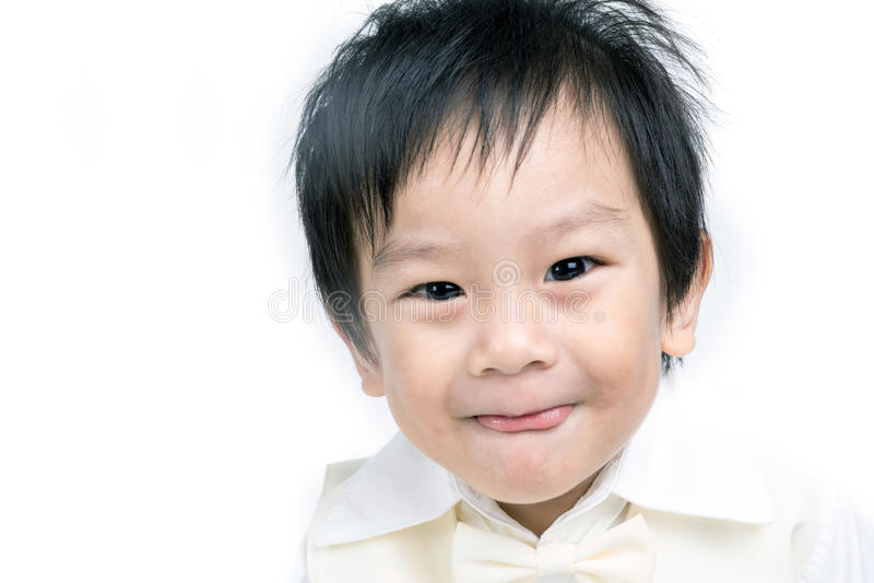 Портрет счастливого азиатского ребенка стоковая фотография rf