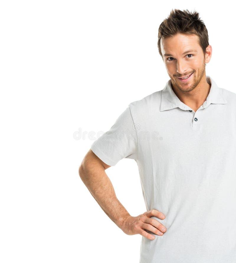 Портрет счастливого взрослого человека стоковая фотография