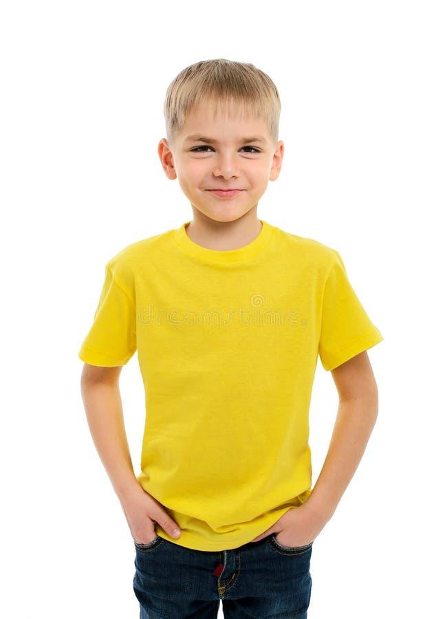 Портрет счастливого мальчика стоковая фотография rf