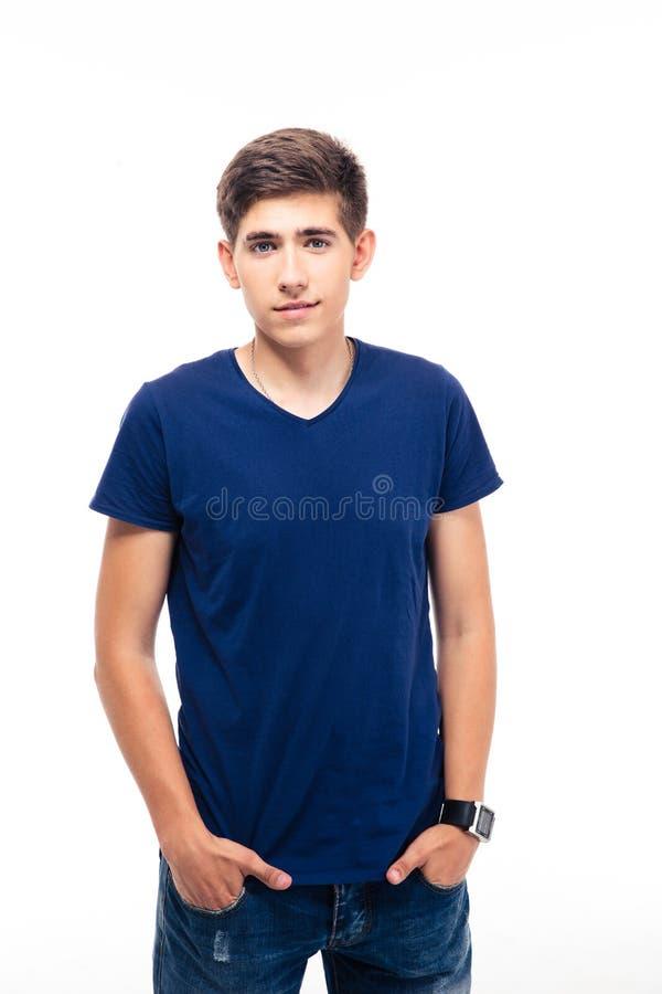 Портрет счастливого молодого вскользь человека стоковые фото